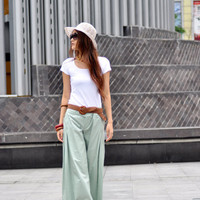 New Design Wide Legs Trumpet Long Pants  NC042 by Sophiaclothing