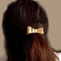 Fashion Gold Bow Ponytail Holder Hair Band wholesale