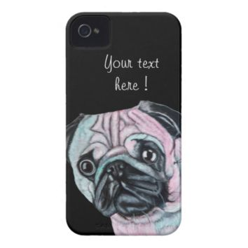 Pug Dog iPhone 4 Case