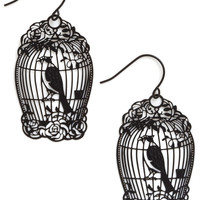 How the Caged Bird Swings Earrings | Mod Retro Vintage Earrings | ModCloth.com