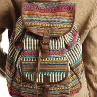 southwest-print-buckle-backpack BROWNMULTI - GoJane.com