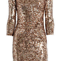 Alice + Olivia | Sequined stretch-mesh dress | NET-A-PORTER.COM