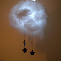 Cloud Night Light with Stars