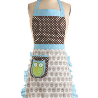 Cooking Owl Day Apron | Mod Retro Vintage Kitchen | ModCloth.com
