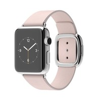 Apple Watch 38mm Stainless Steel Case with Soft Pink Modern Buckle - Small