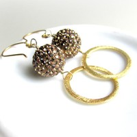 Pave Earrings, Preciosa Crystals, M.. on Luulla