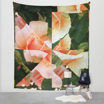 Flower Fragments Wall Tapestry by DuckyB (Brandi)