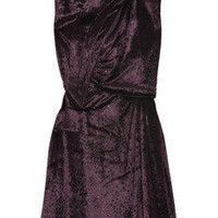 Halston Speckled velour mini dress - 70% Off Now at THE OUTNET