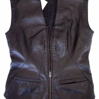 Erin Wasson X Rvca Vest/waistcoat XS Shell 100% Leather 100% Acecetate