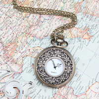 nostalgic past clock necklace - $16.99 : ShopRuche.com, Vintage Inspired Clothing, Affordable Clothes, Eco friendly Fashion