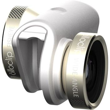 olloclip - 4-in-1 Photo Lens for Apple® iPhone® 6 and 6 Plus - Gold/White/Navy Blue/Mint Green