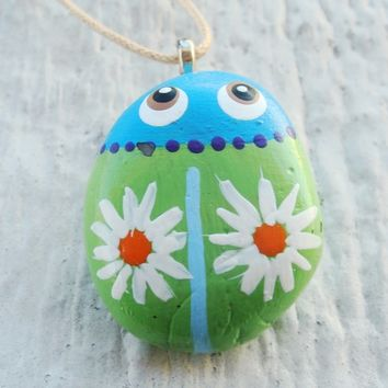 Pet Bug Rock Necklace by Michellescustomjewelry on Zibbet