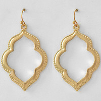 Moroccan Earrings in Goldtone
