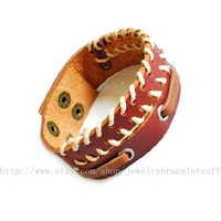 Jewelry bangle leather bracelet fashion bracelet men bracelet punk rock bracelet woven bracelet made of leather and ropes woven  sh-0000004