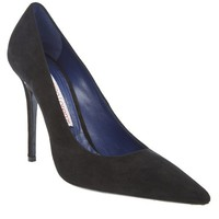 Gianmarco Lorenzi Suede Black Court Shoe