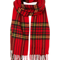 Red Tartan Scarf - Shoes &amp; Accessories - Latest Trend  - Clothing