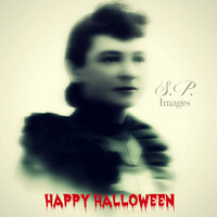 Halloween Greeting Victorian Ghost woman 5x7 Greeting print