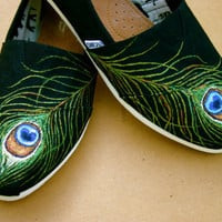 Peacock Tom   ( Send me your Toms and I will paint this design for you.)