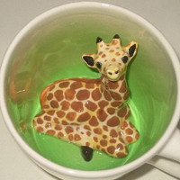 Giraffe Surprise Mug
