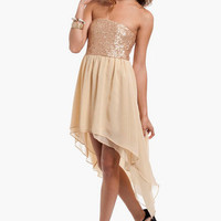 Sari Sequined Hi-Low Dress $39