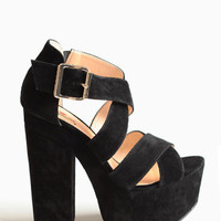 Van Buren Platform Heels By Luichiny - $87.00: ThreadSence, Women&#x27;s Indie &amp; Bohemian Clothing, Dresses, &amp; Accessories