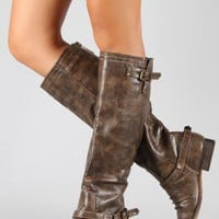 Breckelle Outlaw-91 Buckle Riding Knee High Boot