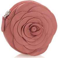 Leather Flower Coin Purse at Accessorize