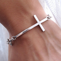 Side cross bracelet- wish bracelet
