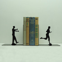 Zombie Metal Art Bookends - Free USA Shipping
