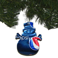 Recycled Pepsi Soda Can Christmas Ornament Snowman Ornament