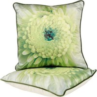 One Kings Lane - Grace Home Furnishings - Evening Song Green Pillows, Pair