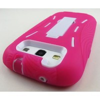 Amazon.com: Pink and White Kickstand Hybrid Silicon Rubber Gel Hard Plastic Cover Case w/ Stand for Samsung Galaxy S3 III I9300 L710 I535 I747 T999 (Sprint, Verizon, At&t, T-mobile): Cell Phones & Accessories