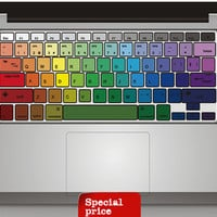 Rainbow keyboard sticker  Mac Book Mac Book Air Mac Book Pro Mac Sticker Mac Decal Apple Decal Mac Decals