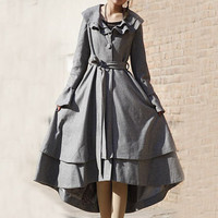 Light grey winter wool coat (E59814945)