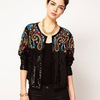 ASOS Trophy Jacket With Baroque Embellishment at asos.com