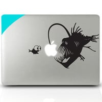 Macbook decal Light fish Mac Book Mac Book Air Mac Book Pro Mac Sticker Mac Decal Apple Decal Mac Decals