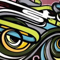 Abstract graffiti Wall Mural | Eazywallz
