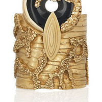 Yves Saint Laurent|Gold-plated agate cuff|NET-A-PORTER.COM