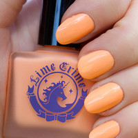 PEACHES ♥ CREAM pastel orange nail polish - Lime Crime