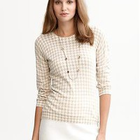 Houndstooth slim sweater | Banana Republic