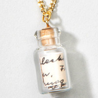 Message In A Bottle Necklace | Romantic Necklace | fredflare.com