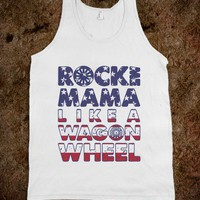 Wagon Wheel Tank Top Stars And Stripes Edition