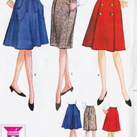 1960s Misses SLIM, A Line and WRAP Skirts Vintage Sewing Pattern, Office Fashion, Mad Men, McCall&#x27;s 7498 Waist 26&quot; uncut