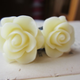 Plugs Gauges Cream Roses 10g, 8g, 6g, 4g, 2g, 0g, 00g, 1/2g, 13mm, 7/16g, 5/8g