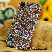 Colorful rhinestone  iphone 4 case cover iphone 4s case iphone 5 case