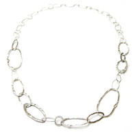 Organic Links Sterling Necklace