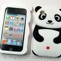 iPod Touch 4 4th GEN Panda Bear Silicone Rubber Protector Soft Skin Case Cover