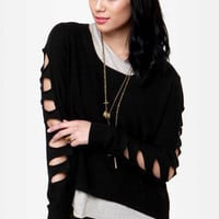 Billabong Liv for Lov Cutout Black Sweater