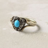 Turquoise & Diamond Ring - Anthropologie.com