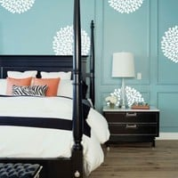 Vinyl Wall Sticker Decal Art  Flowers by urbanwalls on Etsy